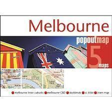 MELBOURNE mapa/ plan miasta PopOut Map
