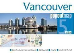 VANCOUVER mapa/ plan miasta PopOut Map