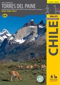 TORRES DEL PAINE mapa trekkingowa COMPASS CHILE