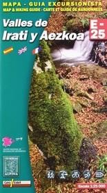 VALLES DE IRATI Y AEZKOA mapa turystyczna 1:25 000 ALPINA