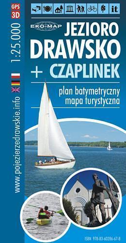 JEZIORO DRAWSKO I CZAPLINEK mapa turystyczna EKOMAP