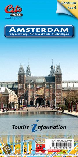 AMSTERDAM plan centrum miasta 1:10 870 CITO