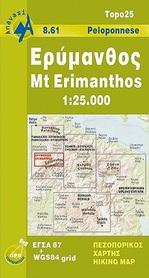 ERIMANTOS mapa 1:25 000 ANAVASI