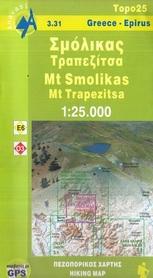3.31 SMOLIKAS - GÓRA TRAPEZITSA mapa w skali 1:25 000 ANAVASI
