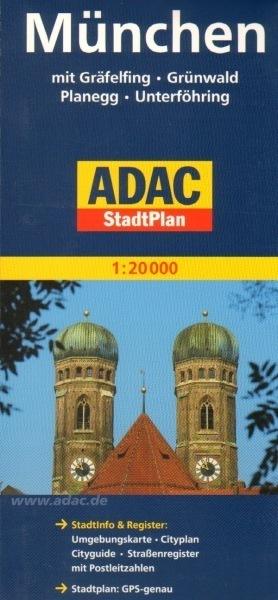 MONACHIUM plan miasta 1:20 000 ADAC
