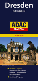 DREZNO plan miasta 1:20 000 ADAC