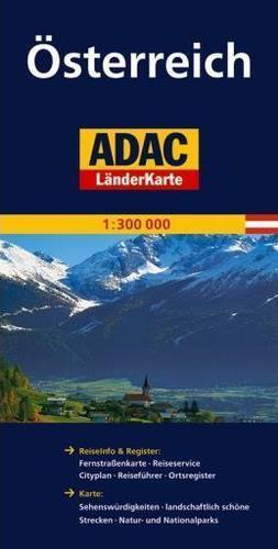 AUSTRIA mapa samochodowa 1:300 000 ADAC