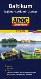 KRAJE BAŁTYCKIE mapa samochodowa 1:550 000 ADAC