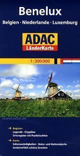 BENELUX mapa samochodowa 1:300 000 ADAC