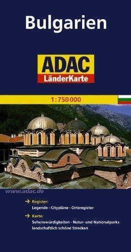 BUŁGARIA mapa samochodowa 1:750 000 ADAC