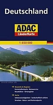 NIEMCY mapa samochodowa 1:650 000 ADAC
