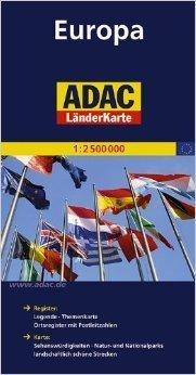 EUROPA mapa samochodowa 1:2 500 000 ADAC