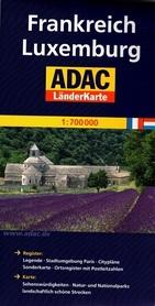 FRANCJA LUKSEMBURG mapa samochodowa 1:700 000 ADAC