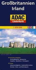 WYSPY BRYTYJSKIE IRLANDIA mapa samochodowa 1:650 000 ADAC