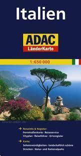 WŁOCHY mapa samochodowa 1:650 000 ADAC