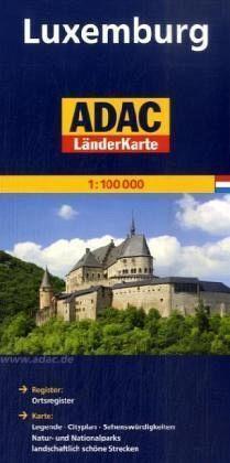 LUKSEMBURG mapa samochodowa 1:100 000 ADAC