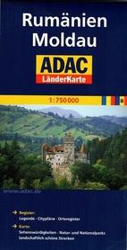 RUMUNIA MOŁDAWIA mapa samochodowa 1:750 000 ADAC