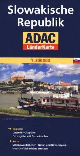 SŁOWACJA mapa samochodowa 1:300 000 ADAC