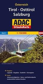 TYROL - POWIAT LIENZ - SALZBURG mapa samochodowa 1:150 000 ADAC