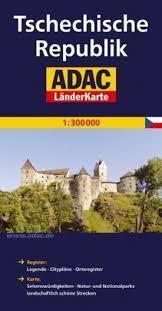 CZECHY mapa samochodowa 1:300 000 ADAC