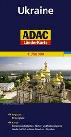 UKRAINA mapa samochodowa 1:750 000 ADAC
