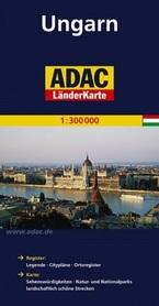 WĘGRY mapa samochodowa 1:300 000 ADAC