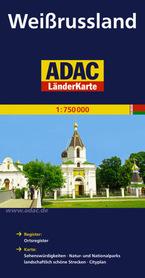 BIAŁORUŚ mapa samochodowa 1:750 000 ADAC