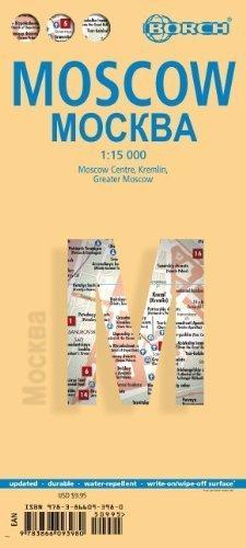 MOSKWA plan miasta laminowany 1:15 000 BORCH
