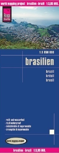 BRAZYLIA mapa 1:3 850 000 REISE KNOW HOW