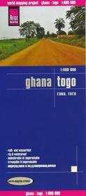 GHANA TOGO mapa 1:600 000 REISE KNOW HOW