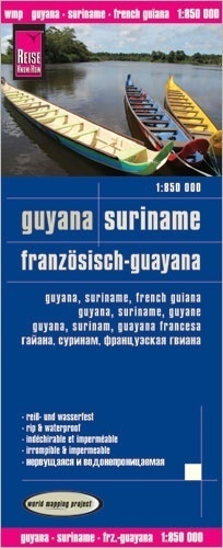 GUJANA, GUJANA FRANCUSKA, SURINAM mapa 1:850 000 REISE KNOW HOW