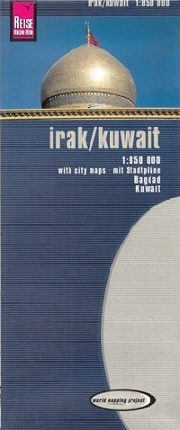 IRAK KUWEJT mapa 1:850 000 REISE KNOW HOW