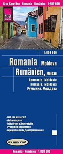 RUMUNIA MOŁDAWIA mapa 1:600 000 REISE KNOW HOW 2019