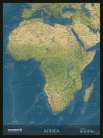 AFRYKA mapa ścienna polityczno-fizyczna COLUMBUS