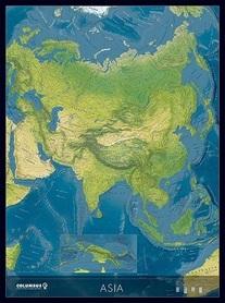 AZJA mapa ścienna polityczno-fizyczna COLUMBUS