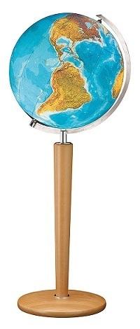GLOBUS DUO czasza kryształowa, podstawa z drewna bukowego, o średnicy 51 cm COLUMBUS