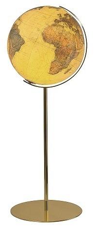 GLOBUS ROYAL czasza akrylowa, podstawa mosiądz, o średnicy 40cm COLUMBUS