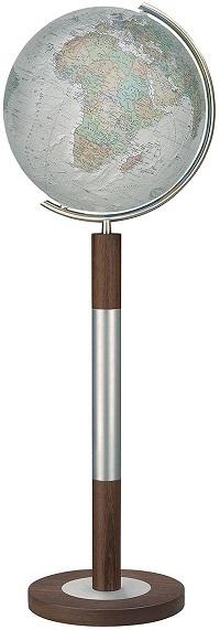 GLOBUS DUO ALBA czasza kryształowa, podstawa drewno WENGE, o średnicy 40cm COLUMBUS