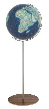 GLOBUS DUO AZZURRO czasza akrylowa, o średnicy 40cm, podstawa fornir COLUMBUS