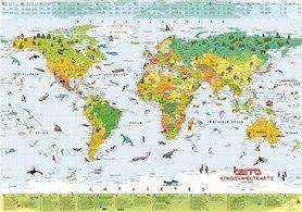 ŚWIAT mapa ścienna DLA DZIECI COLUMBUS