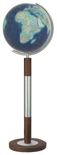 GLOBUS DUO AZZURRO czasza kryształowa, o średnicy 40cm, podstawa drewno Wenge COLUMBUS