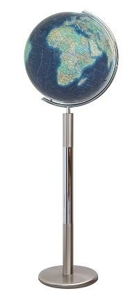 GLOBUS DUO AZZURRO czasza kryształowa, o średnicy 40cm, podstawa stal nierdzewna COLUMBUS