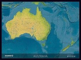 AUSTRALIA mapa ścienna polityczno-fizyczna COLUMBUS