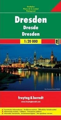 DREZNO plan miasta 1:20 000 FREYTAG & BERNDT