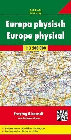 EUROPA mapa fizyczna 1:3 500 000 FREYTAG&BRENDT