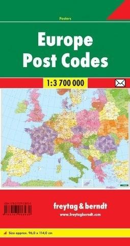 EUROPA mapa kodów pocztowych 1:3 700 000 FREYTAG&BRENDT