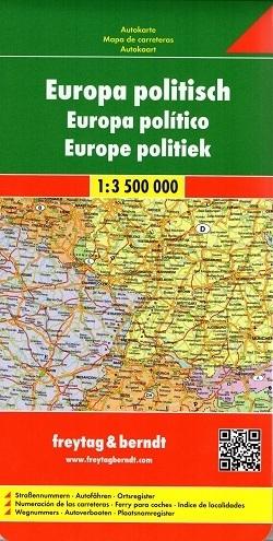 EUROPA mapa polityczna 1:3 500 000 FREYTAG&BRENDT