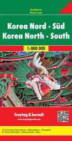 KOREA PÓŁNOCNA I POŁUDNIOWA mapa samochodowa 1:800 000 FREYTAG & BERNDT