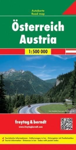 AUSTRIA mapa samochodowa 1:500 000 FREYTAG & BERNDT
