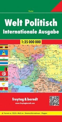 ŚWIAT mapa polityczna 1:35 000 000 FREYTAG & BERNDT